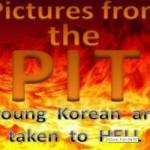 Joven artista Coreana representa el infierno.