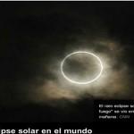 """El eclipse solar proyectó un """"anillo de fuego"""" sobre los cielos"""