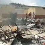 Fanáticos religiosos destruyen escuelas en Nueva Jerusalén Michoacán.