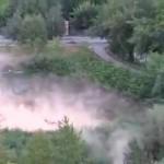 Río en Rusia hierve misteriosamente