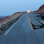 Carretera en Arizona se hunde.