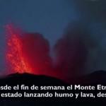 Espectacular erupción del Monte Etna, Hno. Cayetano