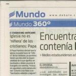 """""""Comentario del Papado"""":Hno.Jesús A. R."""