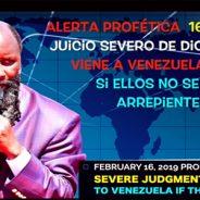 PROFECÍA DEL JUICIO SEVERO DE DIOS QUE VIENE A VENEZUELA . DR OWUOR. Aporte Hno, Gabriel M.